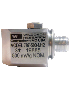 Low frequency accelerometer with M12 connector