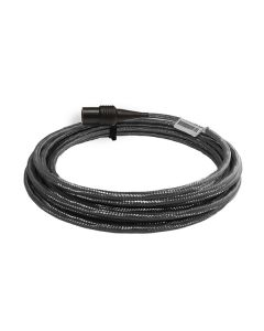 High temperature cable assembly with stainless steel overbraid and isolated connector, 16 ft.